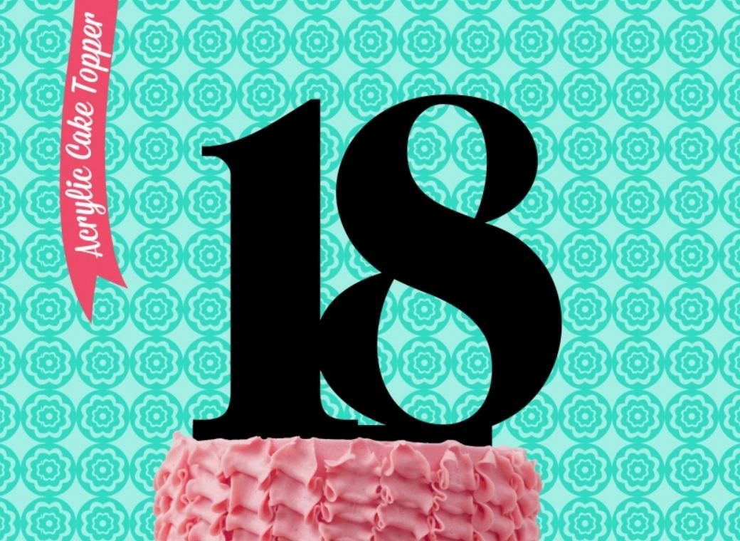 Sugar Crafty Acrylic Cake Topper - 18