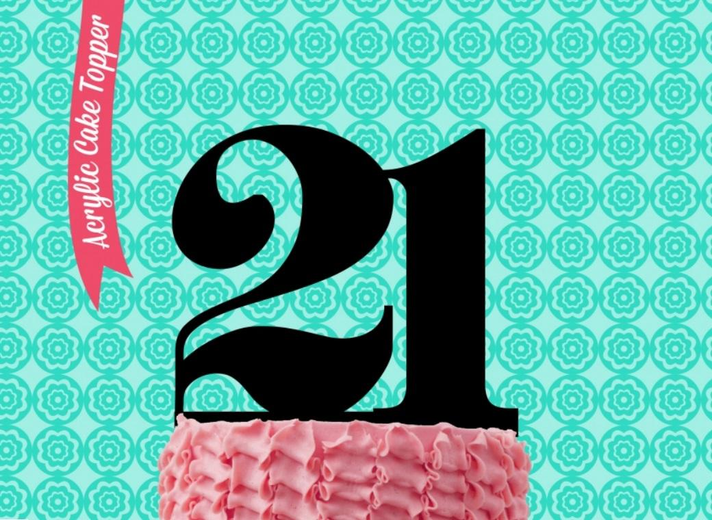 Sugar Crafty Acrylic Cake Topper - 21