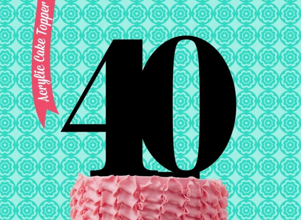 Sugar Crafty Acrylic Cake Topper - 40