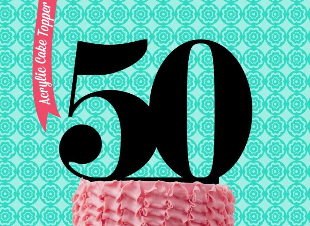 Sugar Crafty Acrylic Cake Topper - 50
