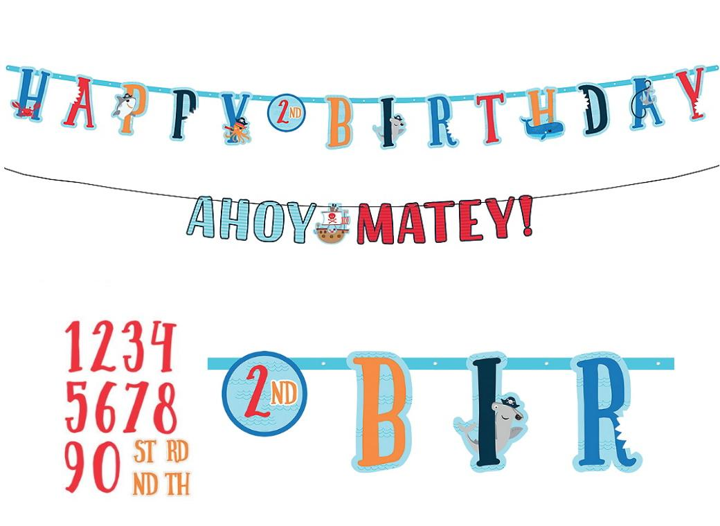 Ahoy Pirate Add An Age Banner & Garland