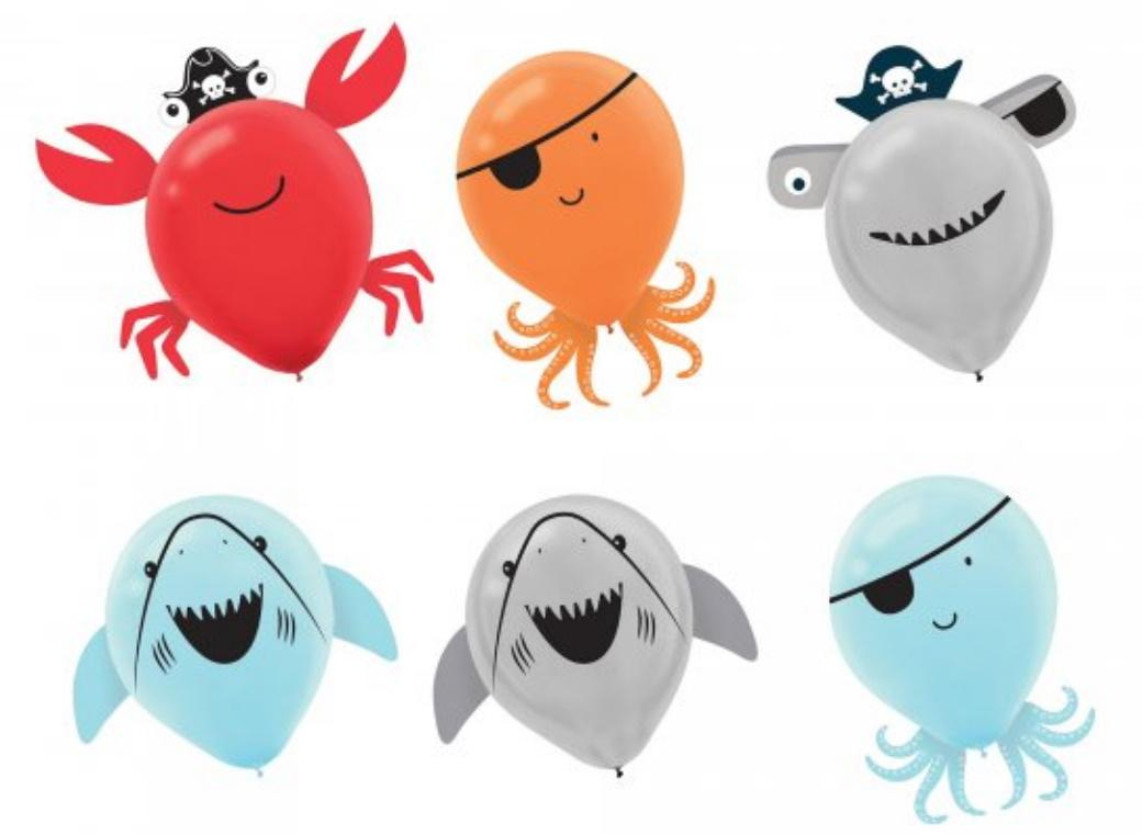 Ahoy Pirate Shark Balloon Decorating Kit