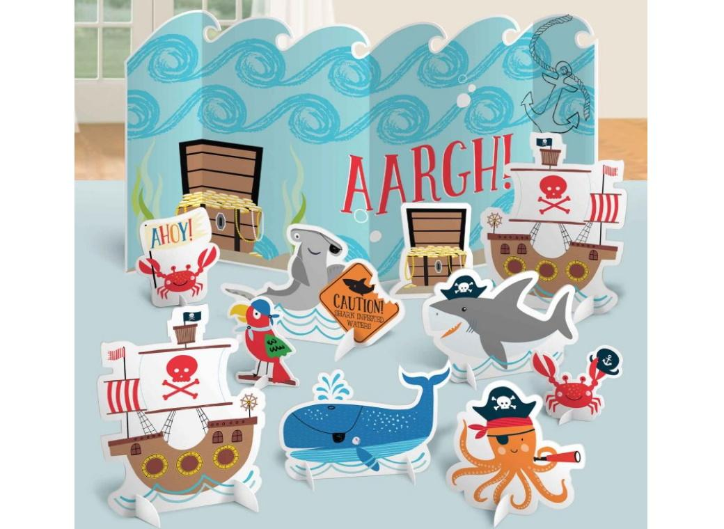 Ahoy Pirate Shark Table Decorating Kit