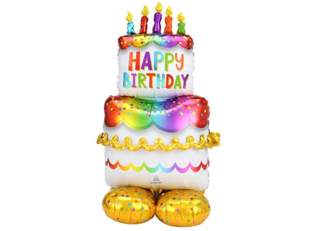 AirLoonz Birthday Cake Foil Balloon
