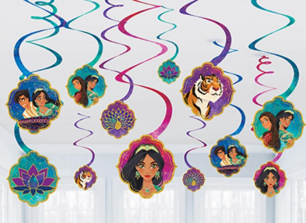 Aladdin Hanging Spiral Decorations
