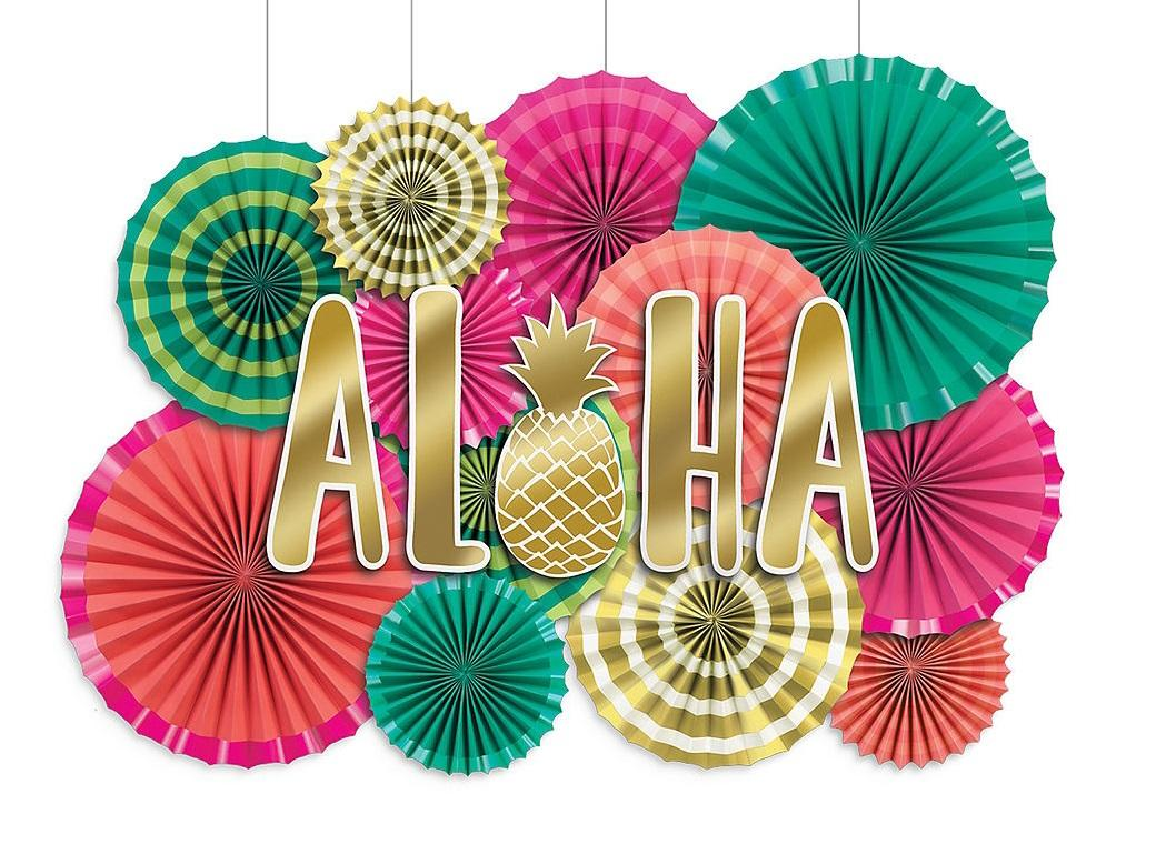 Aloha Paper Fans Decorating Kit