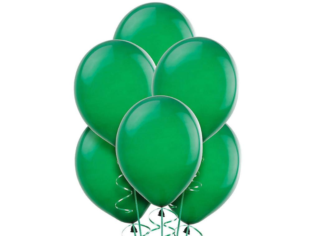 Value Balloons 15pk - Festive Green