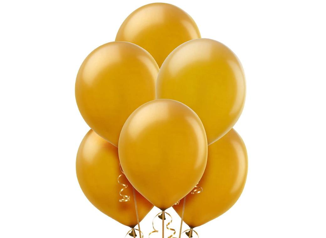 Value Balloons 15pk - Gold