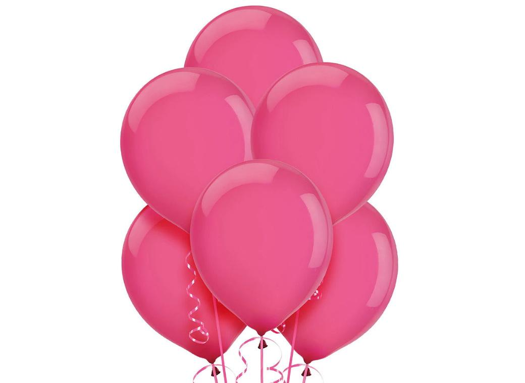 Value Balloons 15pk - Bright Pink