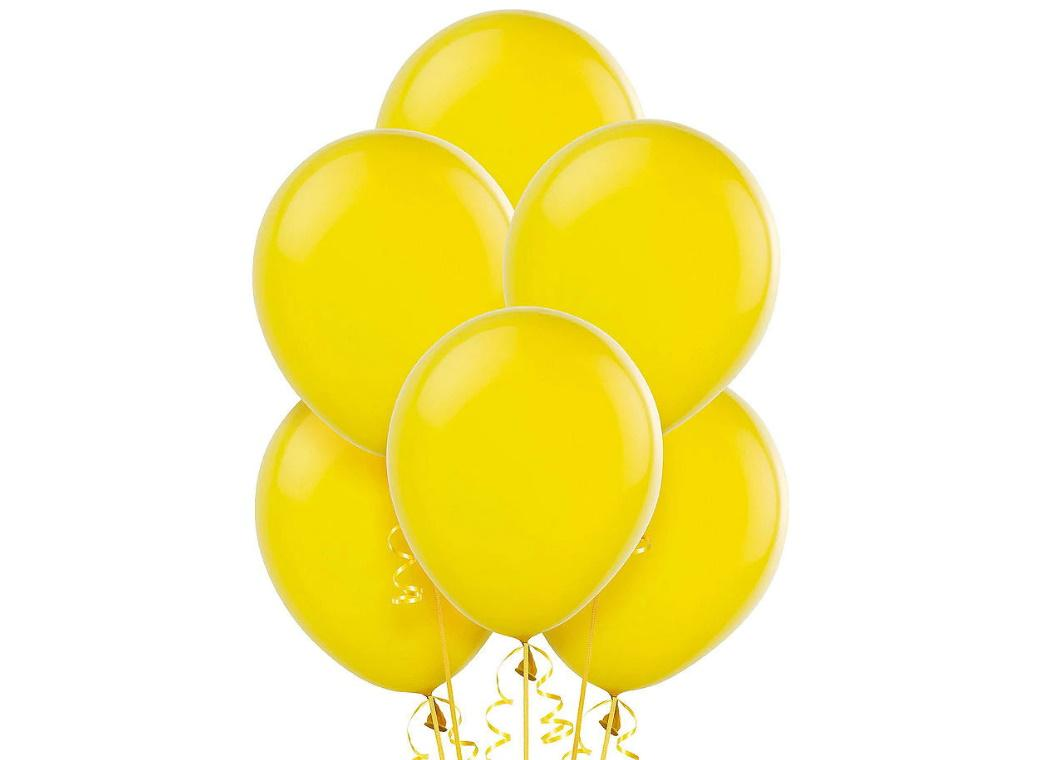 Value Balloons 15pk - Yellow