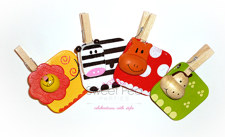 Animal Pegs - Set Of 4