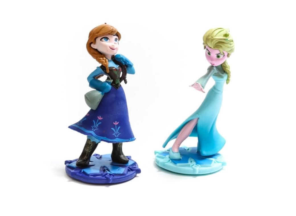 Anna & Elsa Cake Toppers