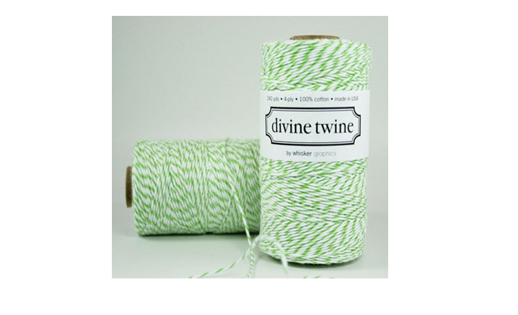 100% Cotton Bakers Twine - Apple Green