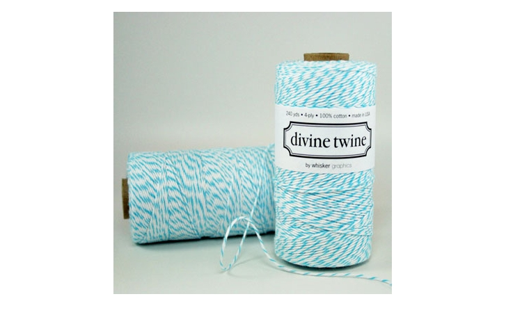 100% Cotton Bakers Twine - Aqua