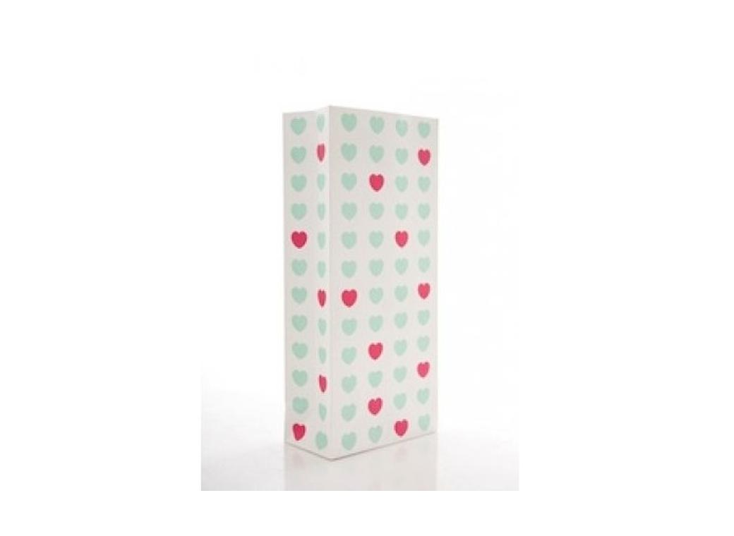 Sweetheart Treat Bags Aqua & Pink - 10pk