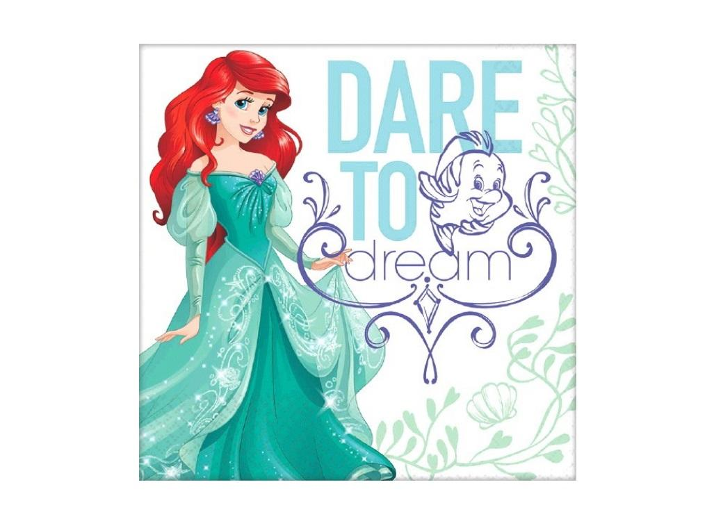 Ariel Dream Big Lunch Napkins - 16pk