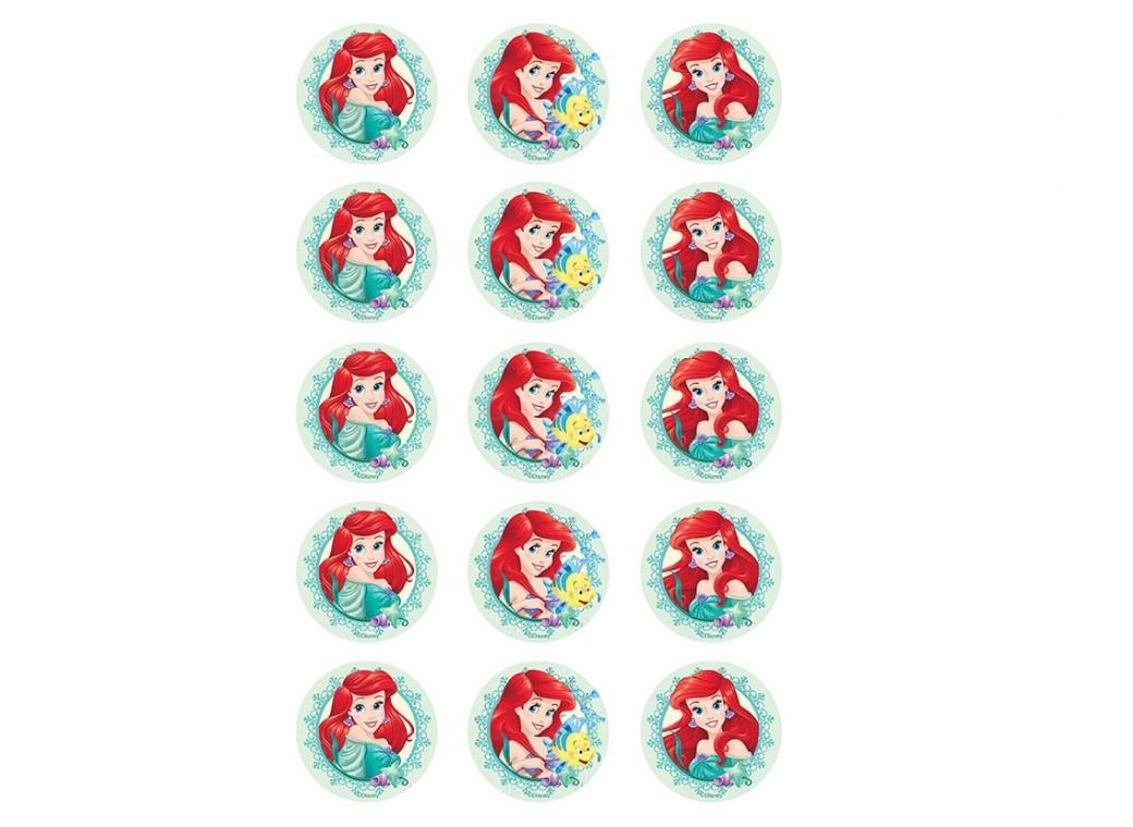 Edible Icing Cupcake Images - Ariel