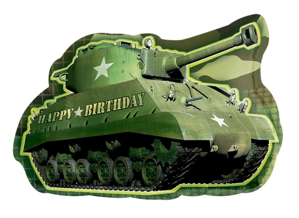 Army Tank SuperShape Foil Balloon