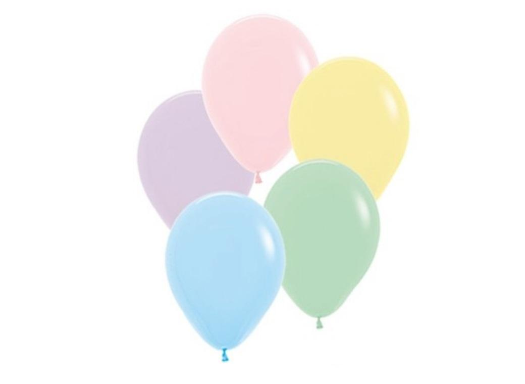 Assorted Pastel Balloons 5in 50pk