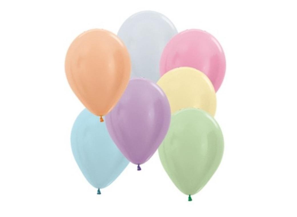 Assorted Pearl Satin Balloons 5in 50pk