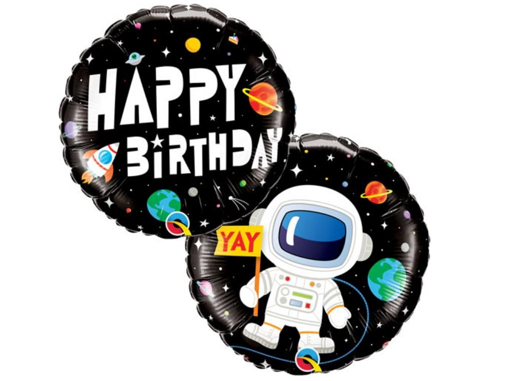 Space Birthday Foil Balloon