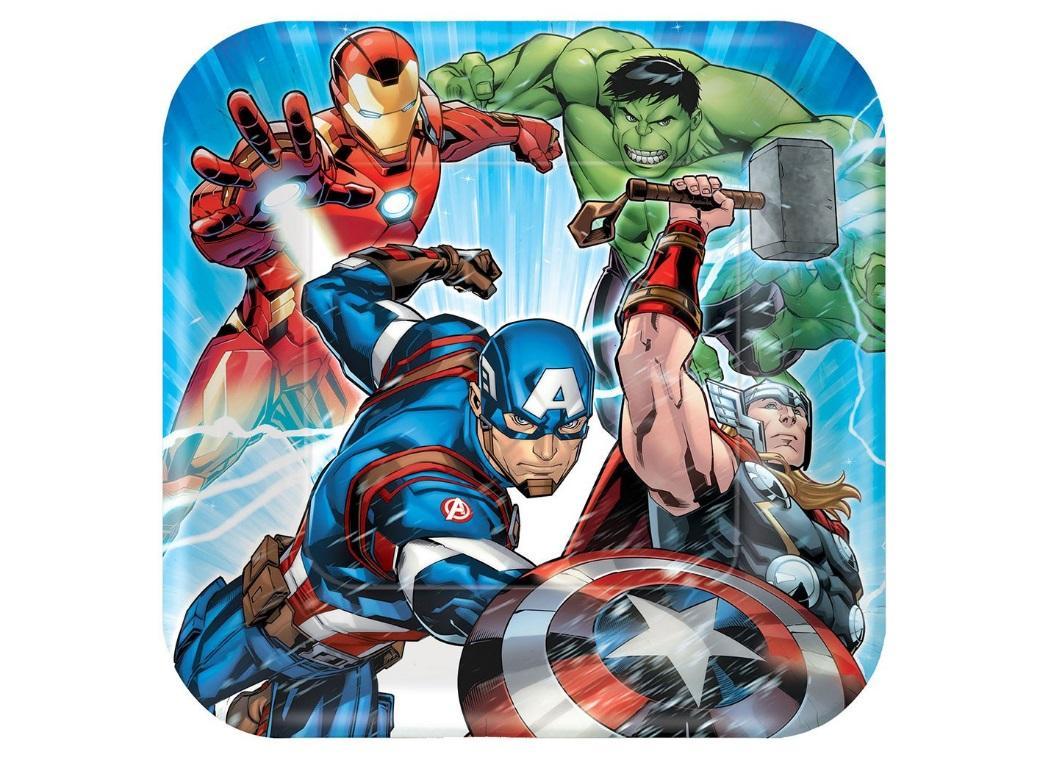Avengers Epic Dinner Plates 8pk