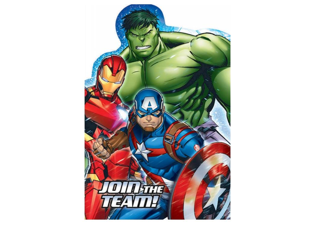 PARTY PACKS Licensed MARVEL AVENGERS Characters Birthday Tableware Supplies