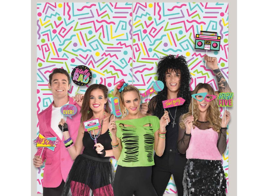 Awesome 80s Party Scene Setter with Photo Props