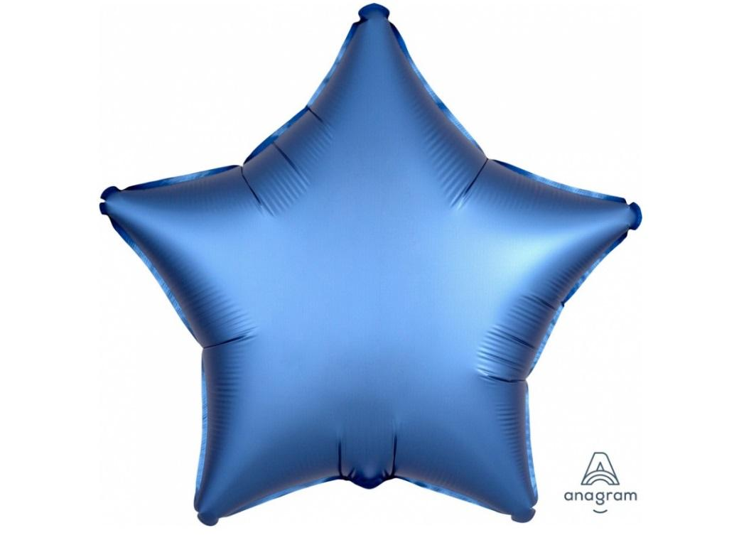 Star Shaped Foil Balloon - Satin Luxe Azure