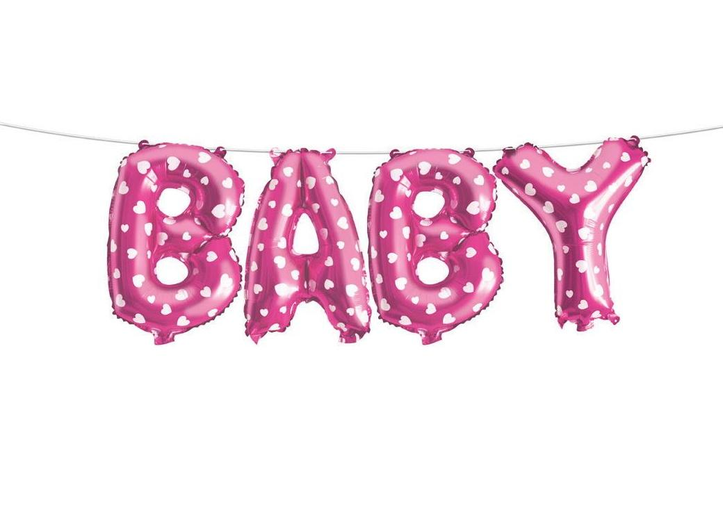 Balloon Banner Kit - Baby Pink Hearts