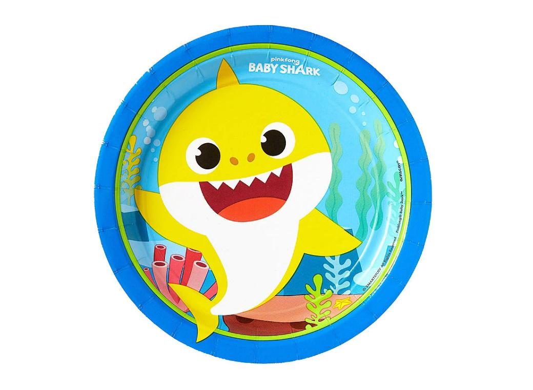 Baby Shark Lunch Plates 8pk