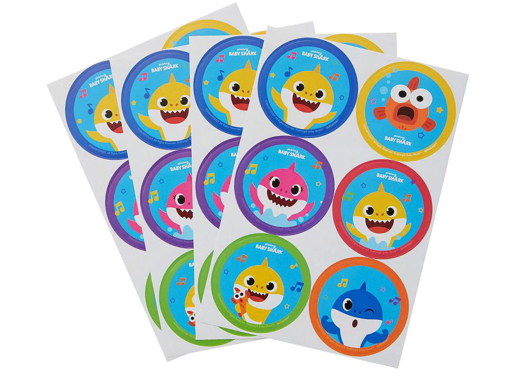 Baby Shark Stickers 24pk