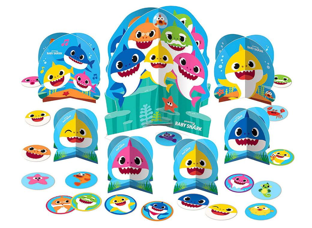 Baby Shark Table Decorating Kit