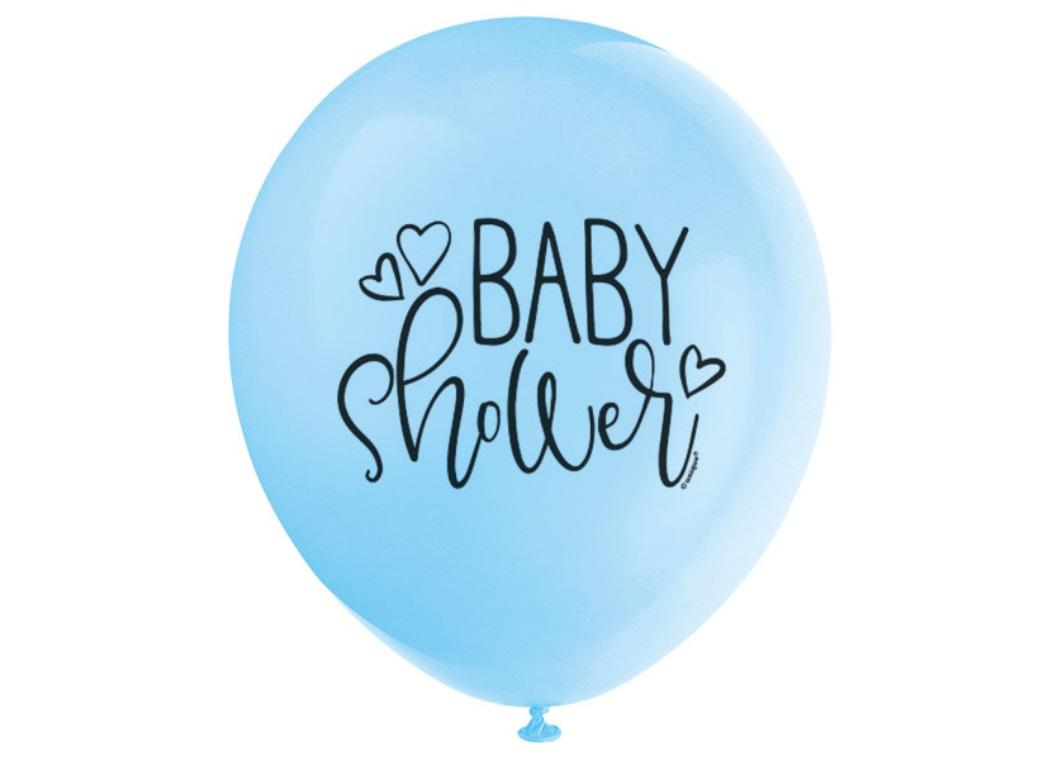Blue Baby Shower Balloons 8pk