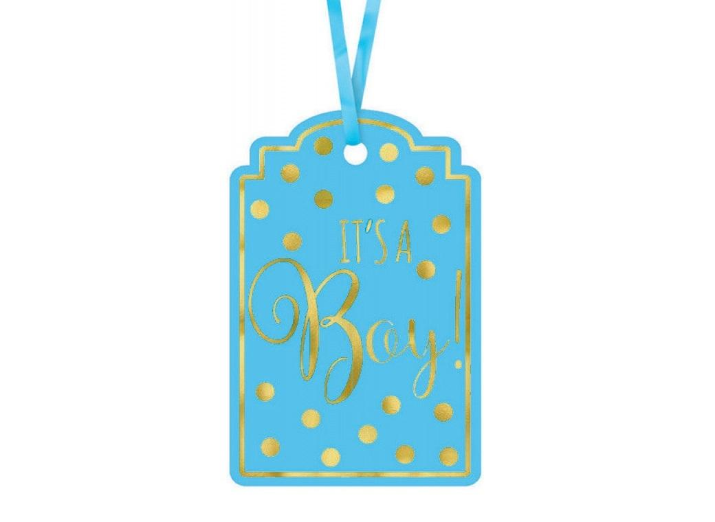 It's A Boy Favour Tags 25pk