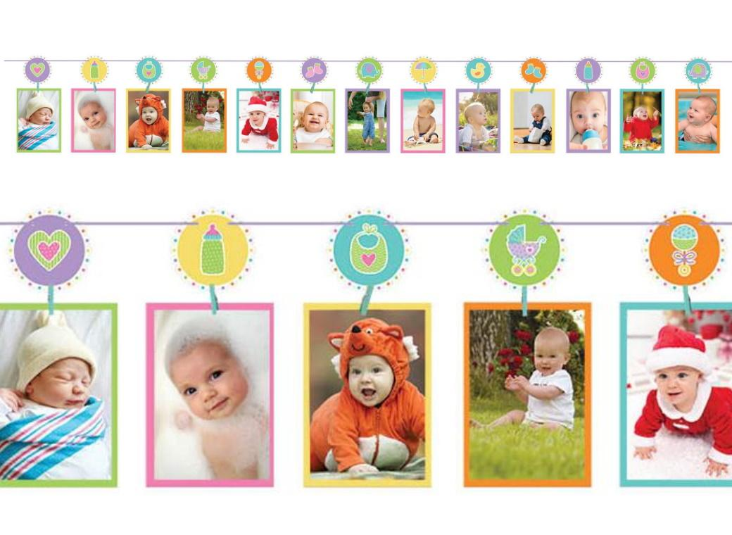 Baby Shower Photo Garland
