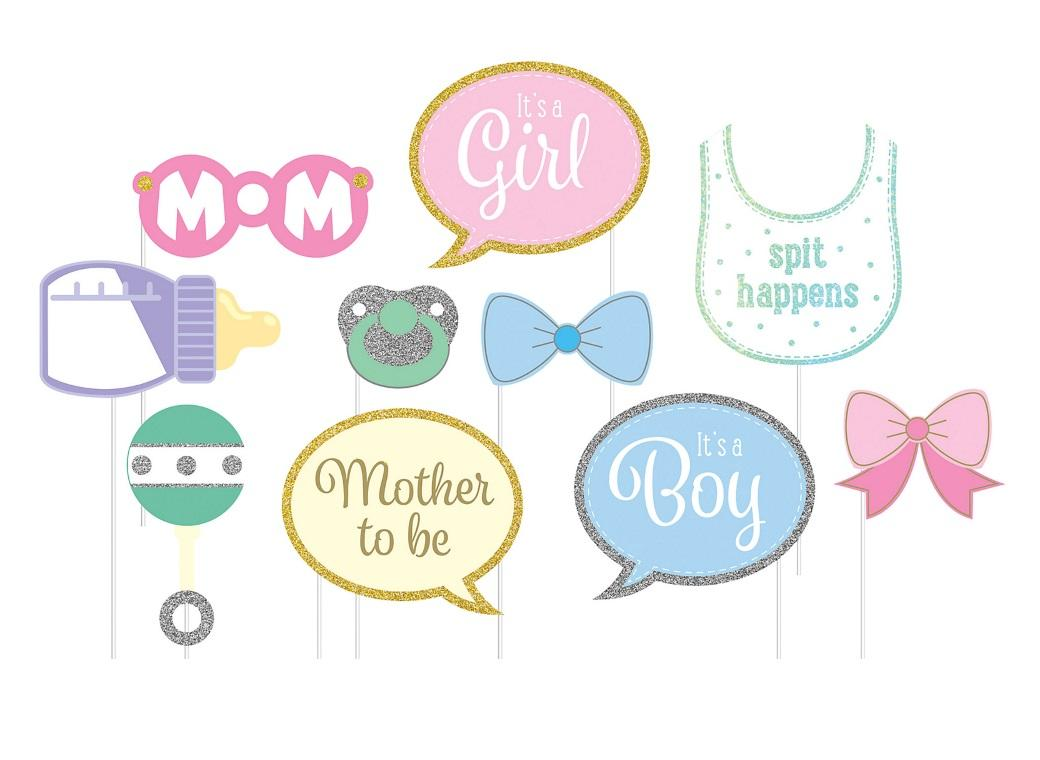 Baby Shower Photo Booth Props 10pk