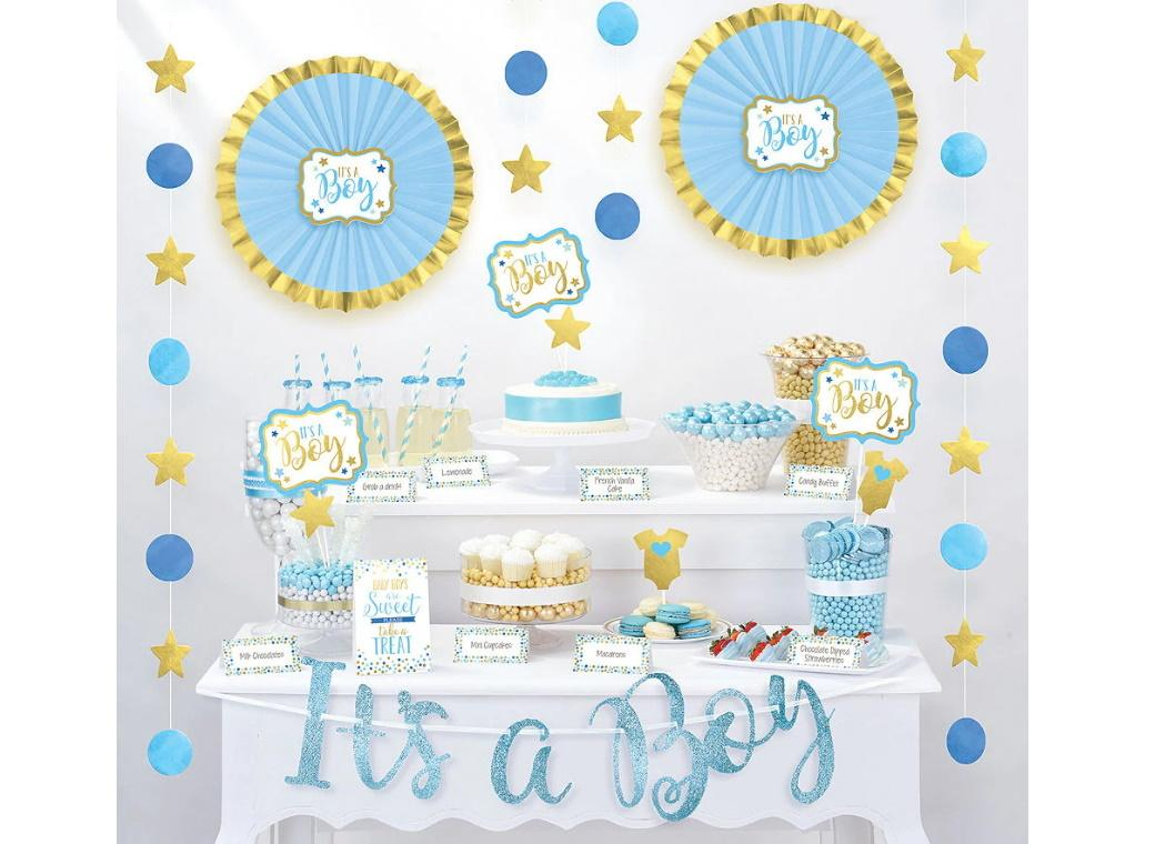Baby Shower Treat Table Decorating Kit - Blue