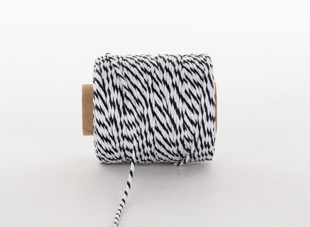 Bakers Twine 50m - Black & White