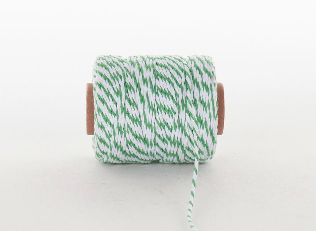 Bakers Twine 50m - Green & White