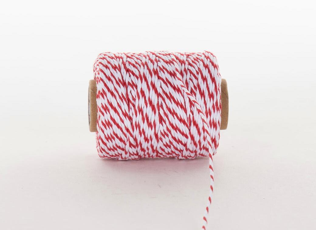 Bakers Twine 50m - Red & White