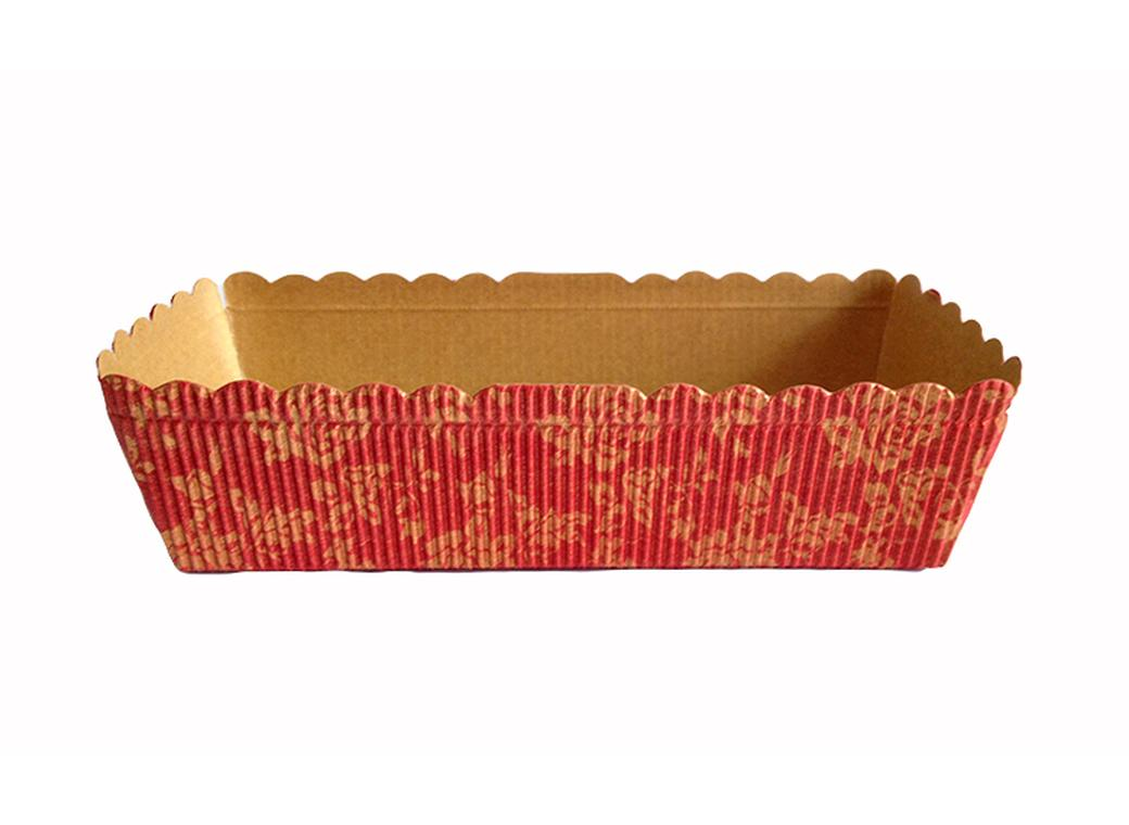 Paper Bakeware Loaf Pan Red & Gold - Medium