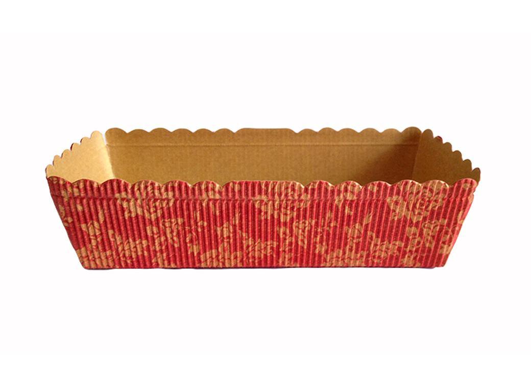 Paper Bakeware Loaf Pan Red & Gold - Medium
