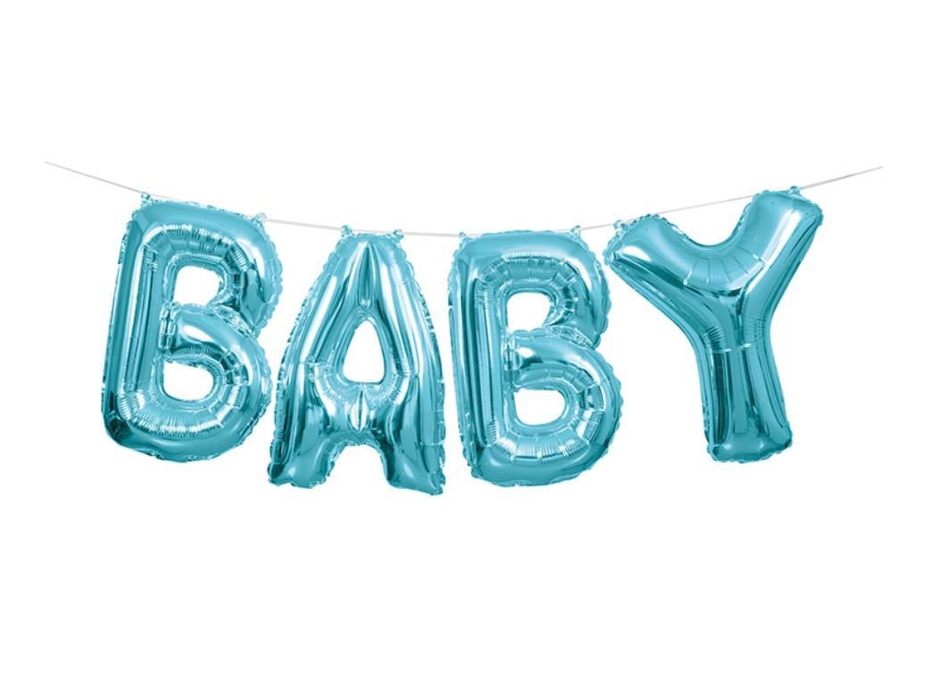 Balloon Banner Kit - Blue Baby