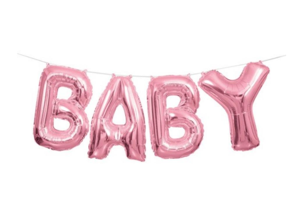 Balloon Banner Kit - Pink Baby