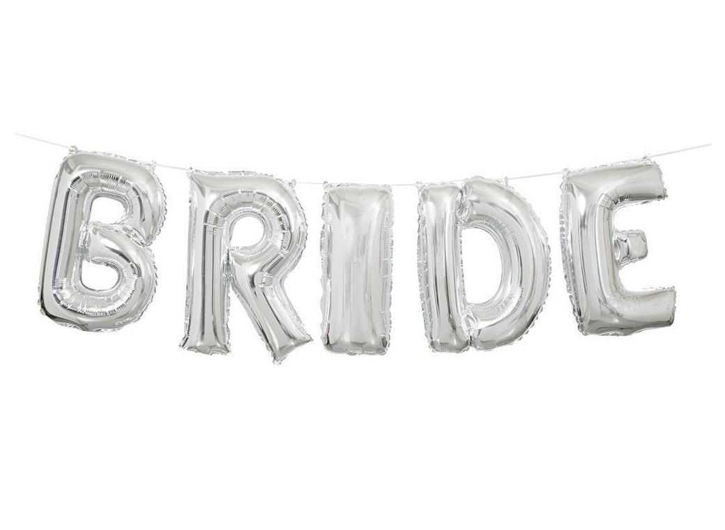 Balloon Banner Kit - Silver Bride