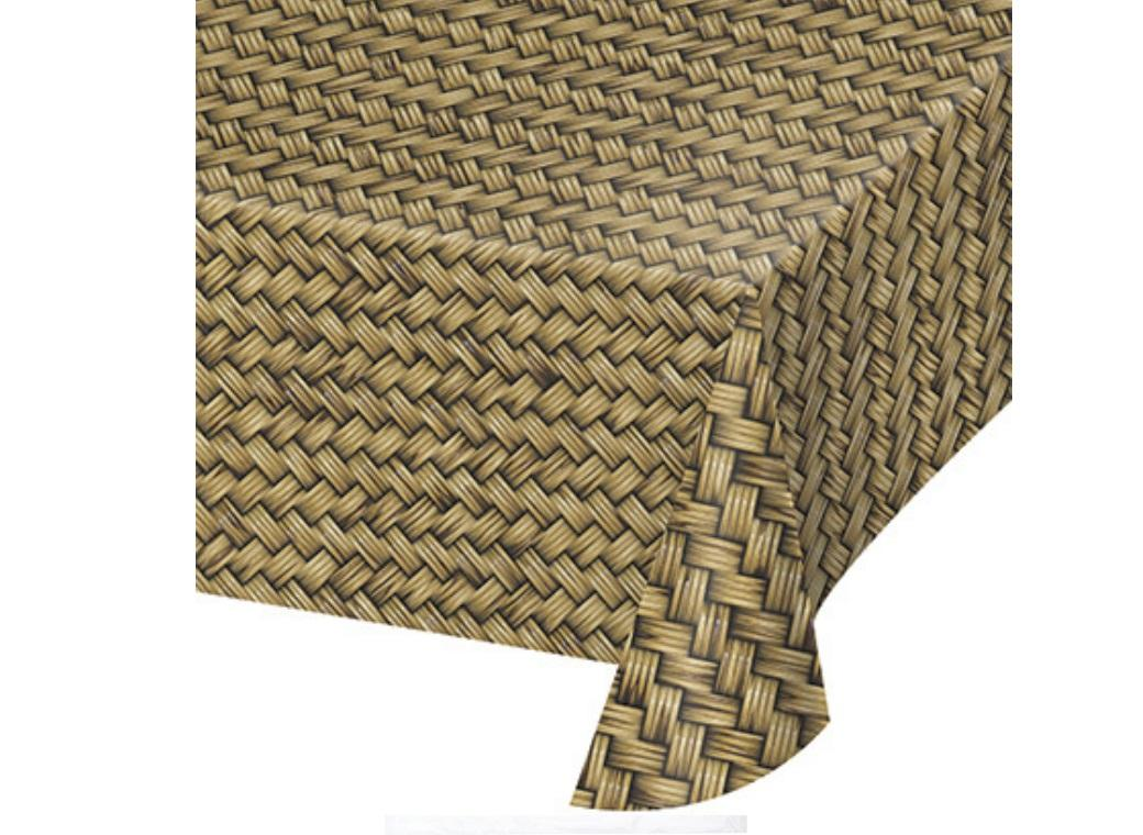 Bamboo Basket Weave Table Cover