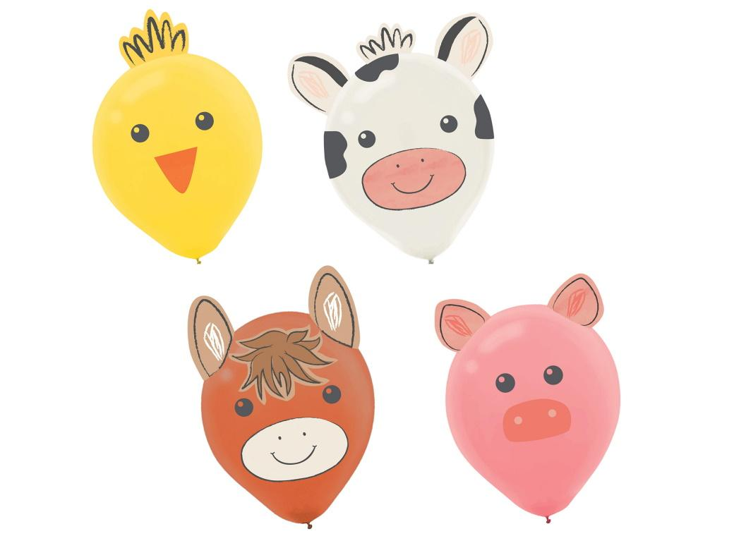 Barnyard Birthday Balloon Decorating Kit 6pk