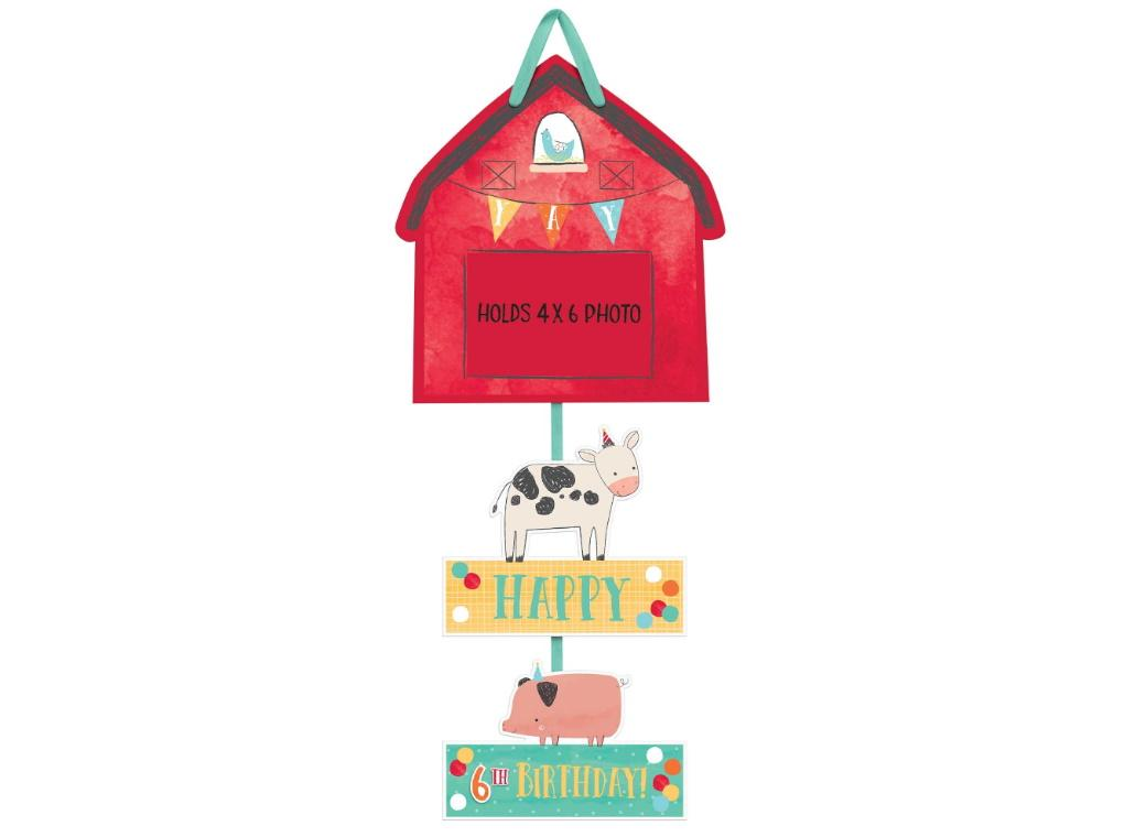 Barnyard Birthday Sign with Photo Holder