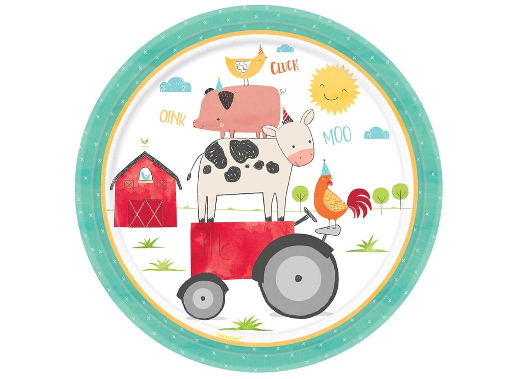 Barnyard Birthday Dinner Plates 8pk